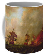 Lord Howe And The Comte Destaing Off Rhode Island Coffee Mug by Robert Wilkins