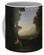 Lorena, Claudio De Chamagne, 1600 - Roma, 1682 Landscape With Saint Mary Of Cervello Ca. 1637. Coffee Mug