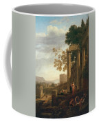 Lorena, Claudio De Chamagne, 1600 - Roma, 1682 Landscape With The Burial Of Saint Serapia Ca. 1639 Coffee Mug