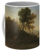 Lorena, Claudio De Chamagne, 1600 - Roma, 1682 Setting Out With The Herd 1636 - 1637 Coffee Mug