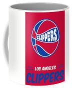 Los Angeles Clippers Vintage Basketball Art Coffee Mug