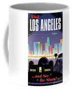Los Angeles Poster - Retro Travel  Coffee Mug