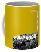 Los Angeles Skyline Hollywood - Gold Coffee Mug