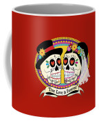 Los Novios Sugar Skulls Coffee Mug by Tammy Wetzel