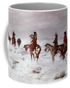 'lost In A Snow Storm - We Are Friends' Coffee Mug by Charles Marion Russell