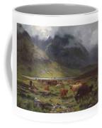 Louis Bosworth Hurt 1856-1929 Highland Cattle In A Glen Coffee Mug