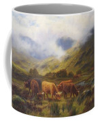 Louis Bosworth Hurt British 1856 - 1929 Highland Cattle Coffee Mug