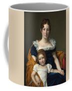 Louis David   Portrait Of The Comtesse Vilain Xiiii And Her Daughter Coffee Mug