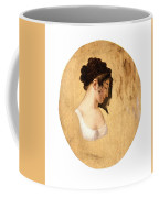 Louis-leopold Boilly - Profile Of A Young Womans Head Coffee Mug