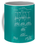 Louis Pasteur Brewing Beer And Ale Patent 1873 Green Coffee Mug