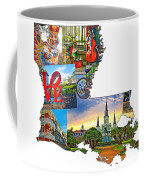 Louisiana Map - New Orleans Coffee Mug
