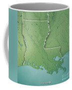 Louisiana State Usa 3d Render Topographic Map Border Coffee Mug