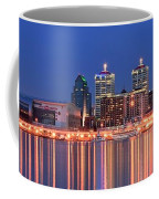 Louisville Panoramic At Blue Hour Coffee Mug