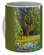 Lounging On The Green Coffee Mug