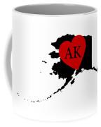 Love Alaska Black Coffee Mug