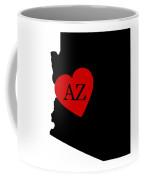 Love Arizona Black Coffee Mug