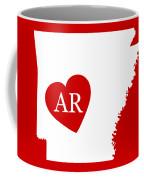 Love Arkansas White Coffee Mug