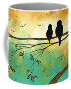 Love Birds By Madart Coffee Mug by Megan Duncanson