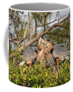 Love Birds - Great Blue Heron Coffee Mug