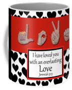 Love - Bw Graphic Coffee Mug