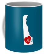 Love Delaware White Coffee Mug