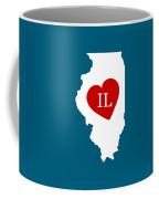 Love Illinois White Coffee Mug