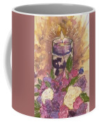 Love In Lavender Between The Lines Coffee Mug