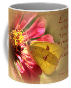 Love Is Like A Butterfly Coffee Mug