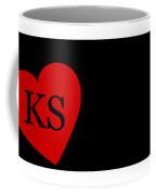 Love Kansas Black Coffee Mug