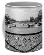 Love Locks Over The Seine Coffee Mug