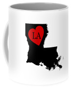 Love Louisiana Black Coffee Mug