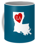 Love Louisiana White Coffee Mug