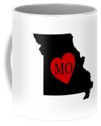 Love Missouri Black Coffee Mug