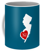 Love New Jersey White Coffee Mug