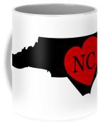 Love North Carolina Black Coffee Mug