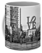 Love On The Parkway In Black And White Coffee Mug