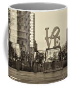 Love On The Parkway In Sepia Coffee Mug