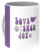 Love Peace And Joy Coffee Mug