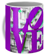 Love Philadelphia Purple Digital Art Coffee Mug
