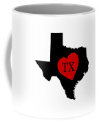 Love Texas Black Coffee Mug