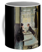 Lovers In A Cafe Coffee Mug