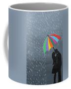 Lovers In The Rain Coffee Mug