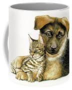 Loving Cat And Dog Coffee Mug