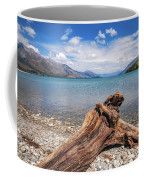 Low Angle View From The Rocky Dart River Bank At Kinloch, Nz Coffee Mug