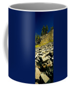 Low Angle View Of Devils Post Pile Coffee Mug