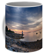 Low Tide At Salem's Lighthouse Coffee Mug