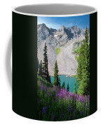 Lower Blue Lake Summer Portrait Coffee Mug by Cascade Colors