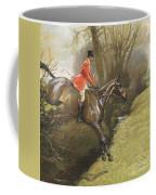Lt Col Ted Lyon Jumping A Hedge Coffee Mug