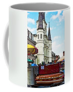 Lucky Dogs And St. Louis Cathedral Coffee Mug