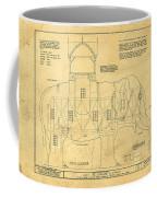 Lucy The Elephant Building Patent Blueprint  Coffee Mug